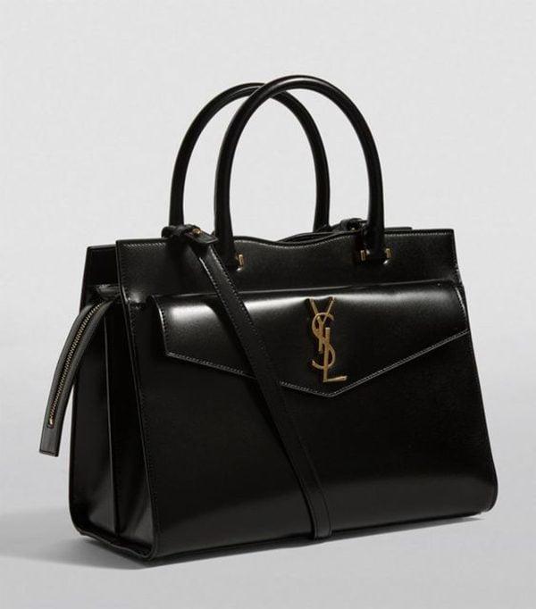 Uptown Medium Monogram Leather Tote Bag