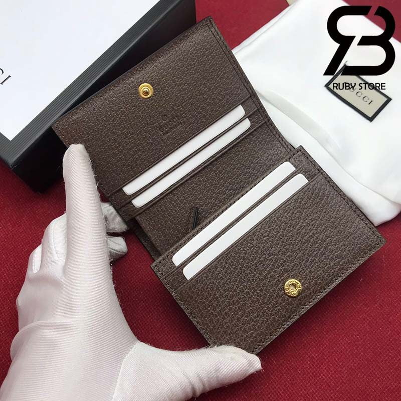 Ví Gucci Ophidia GG card case wallet best quality