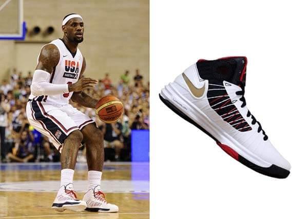 Giày Lunar Hyperdunk của LeBron James trong Olympic 2012
