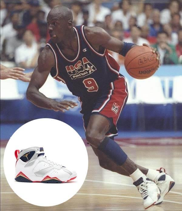 Olympic 1992: Giày Nike Air Jordan 7 của Michael Jordan