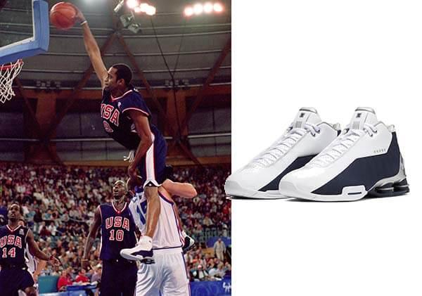 Olympic 2000: Giày Nike Shox BB4 của Vince Carter
