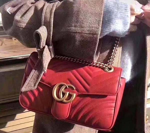 Túi đeo vai nhỏ GG Marmont 26cm - nhiều người lựa chọn nhất