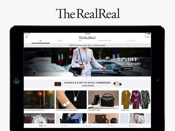 Trang web thương mại điện tử Real Real