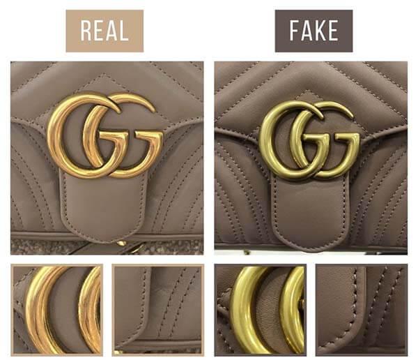 Cách nhận biết túi GG Marmont thật giả qua chữ G