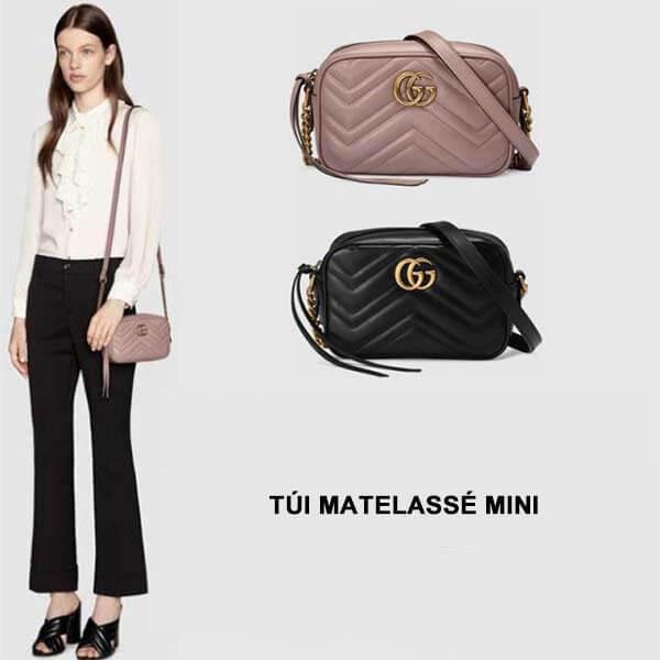 Thiết kế túi Gucci Marmont matelassé mini