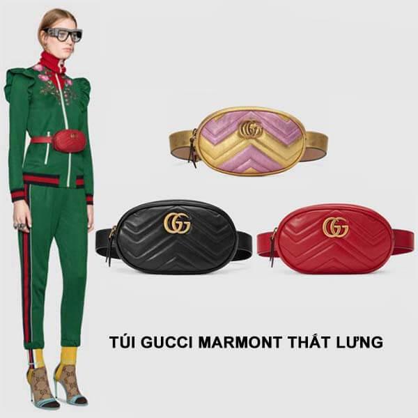 Thiết kế túi Gucci Marmont thắt lưng