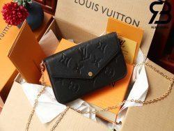 Túi LV Felicie Pochette Black Brown Best Quality 99% Auth