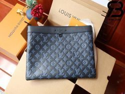 Túi LV Discovery Pochette GM Monogram Black Blue Best Quality 99% Auth