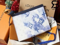 Túi LV Pochette Voyage Blue Monogram Best Quality 99% Auth