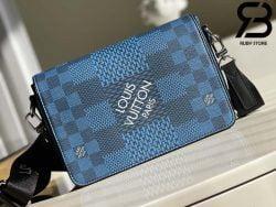 Túi LV Studio Messenger Damier Graphite Blue Best Quality 99% Auth
