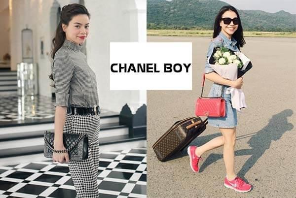 Túi Chanel Boy của Hồ Ngọc Hà và Trà Ngọc Hằng