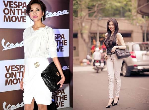 Tui Chanel 2.55 của Thanh Hằng và Ngọc Trinh