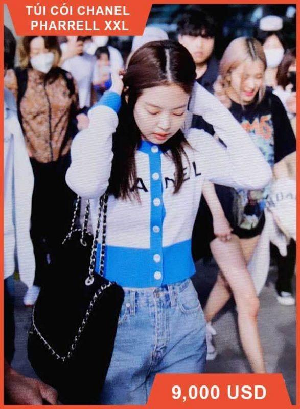 Túi cói Chanel Pharrell XXL của Jennie (Blackpink)