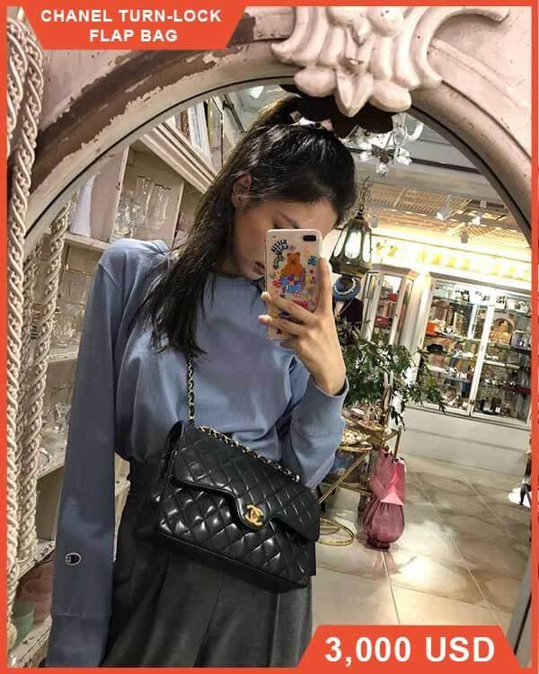 Chanel Turn-Lock Flap Bag của Jennie (Blackpink)