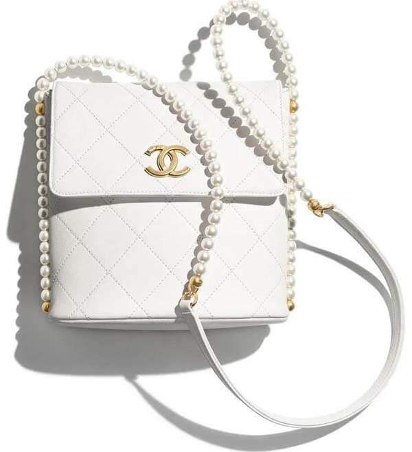 Túi Chanel hobo dây ngọc trai