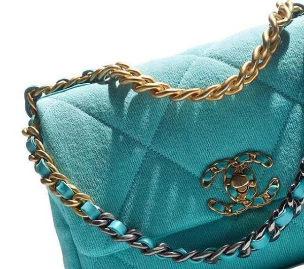Túi Chanel 19 màu xanh