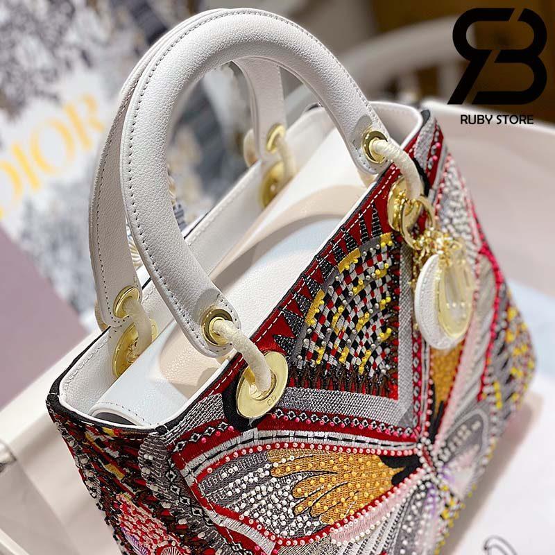 Túi Medium Dior D-Lite Bướm (Butterfly) 24cm Best Quality 99% Auth
