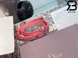 Túi Medium Dior D-Lite Hồng Best Quality 99% Auth