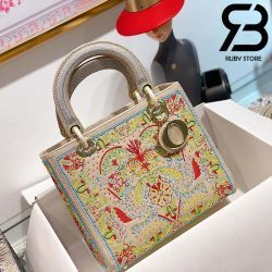 Túi Medium Dior D-Lite Xanh 24cm Best Quality 99% Auth