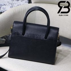 Túi Medium Dior St Honoré Tote Đen 25cm Best Quality 99% Auth