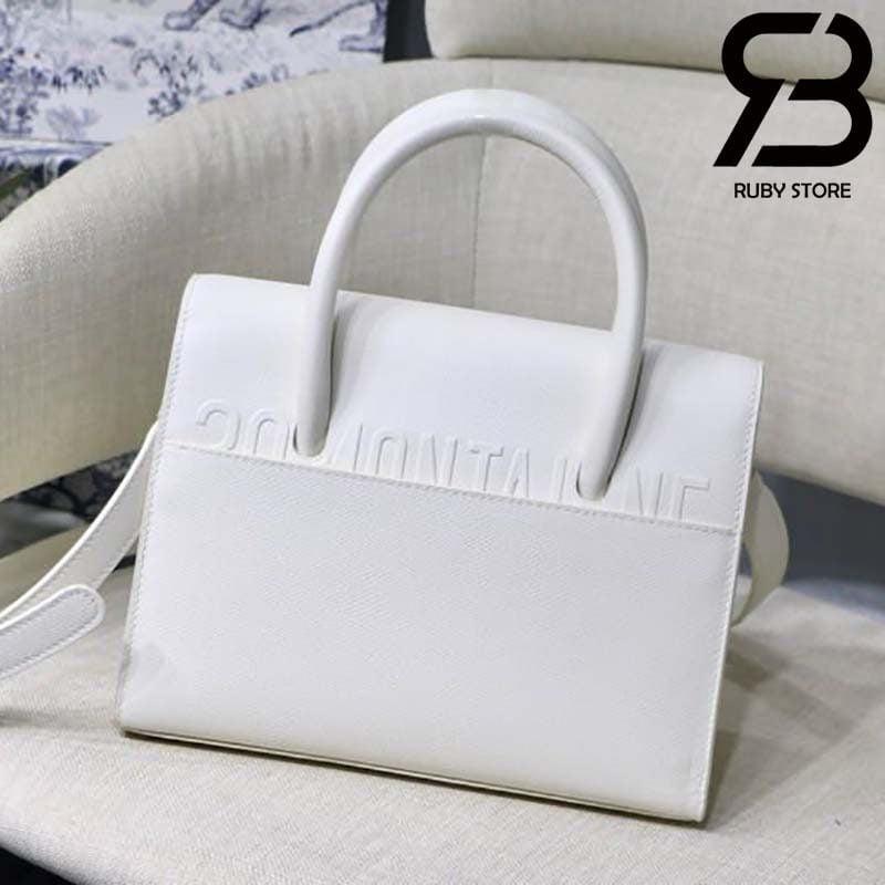 Túi Medium Dior St Honoré Tote Trắng 25cm Best Quality 99% Auth