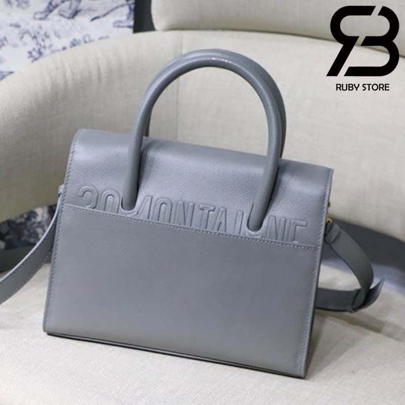 Túi Medium Dior St Honoré Tote Xanh Dương 25cm Best Quality 99% Auth