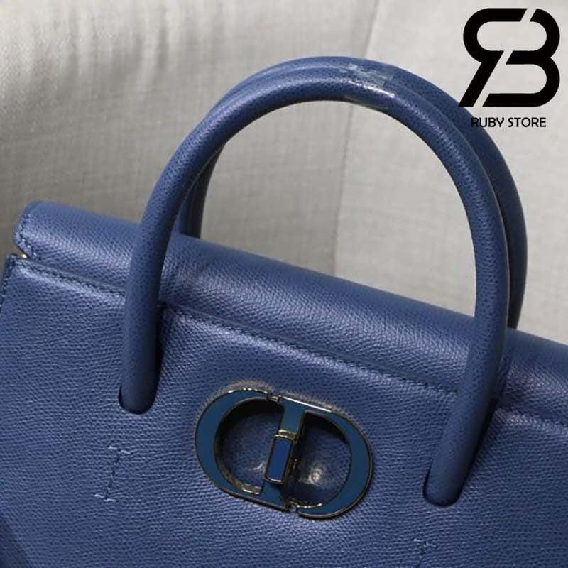 Túi Medium Dior St Honoré Tote Xanh Navy 25cm Best Quality 99% Auth