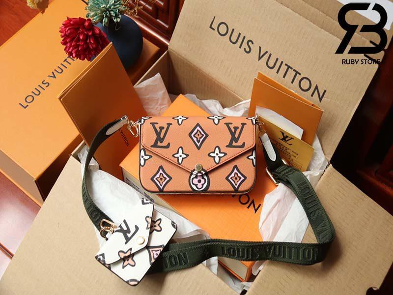 Túi LV Felicie Strap & Go Beige Best Quality 99% Auth