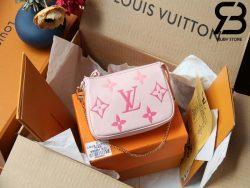 Túi LV Mini Pochette Accessoires Py The Pool Hồng Best Quality 99% Auth