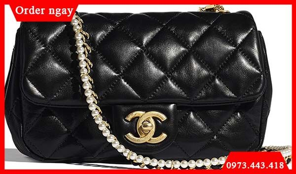 Chanel New Mini Crystal Pearls Chain Bag ngọc trai
