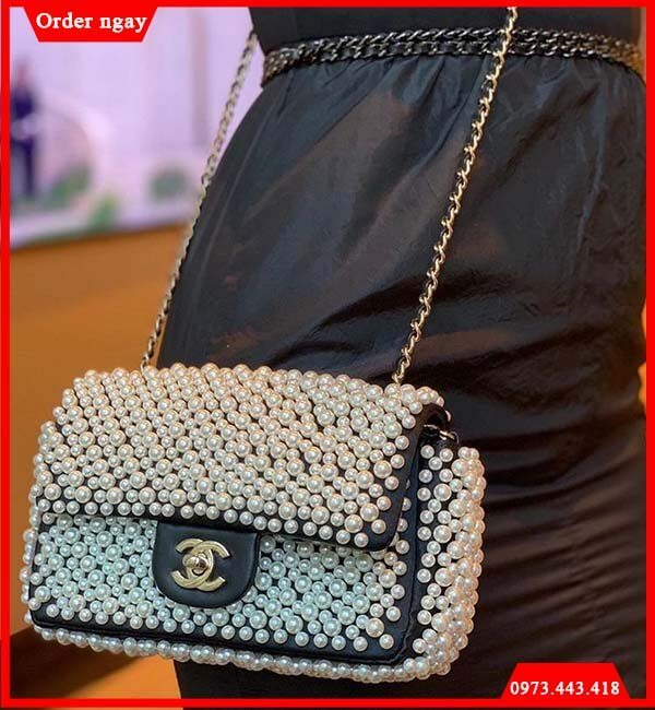 Túi Chanel Pearl On Flap ngọc trai