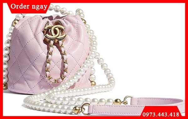 Chanel Pearl Chain Drawstring Bag