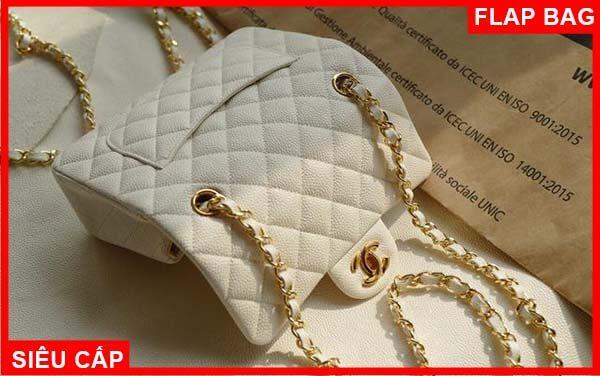 Chanel mini flap bag màu trắng