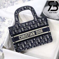 Túi Dior Book Tote Xanh Dương 22,5cm Best Quality