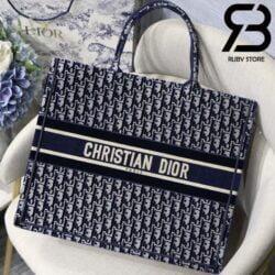 Túi Dior Book Tote Xanh Dương 41,5cm Best Quality